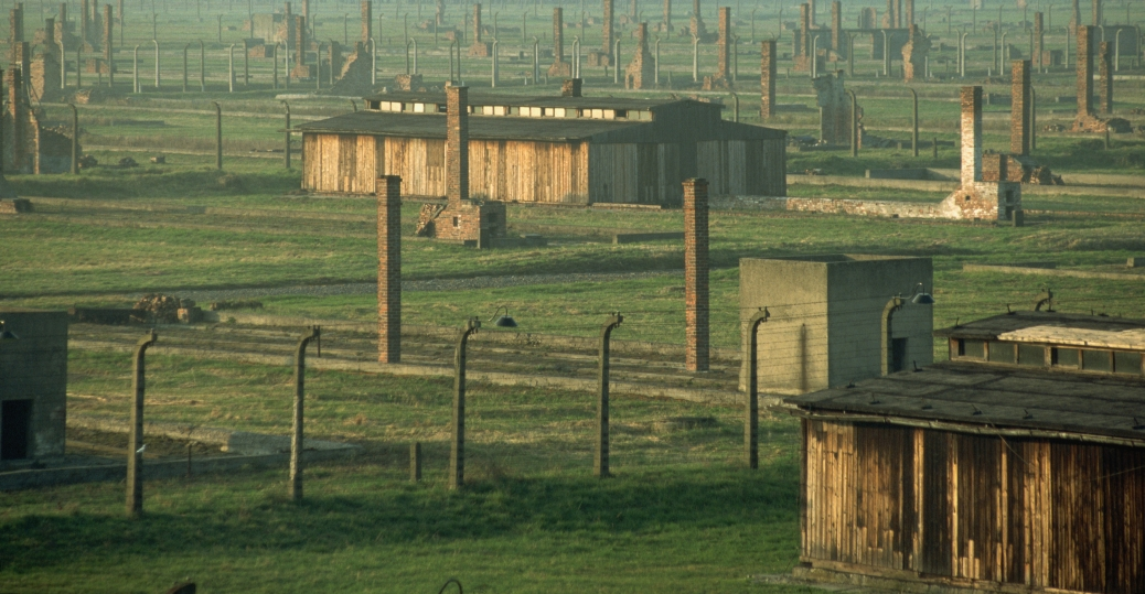 The many chimney's at Auschwitz.