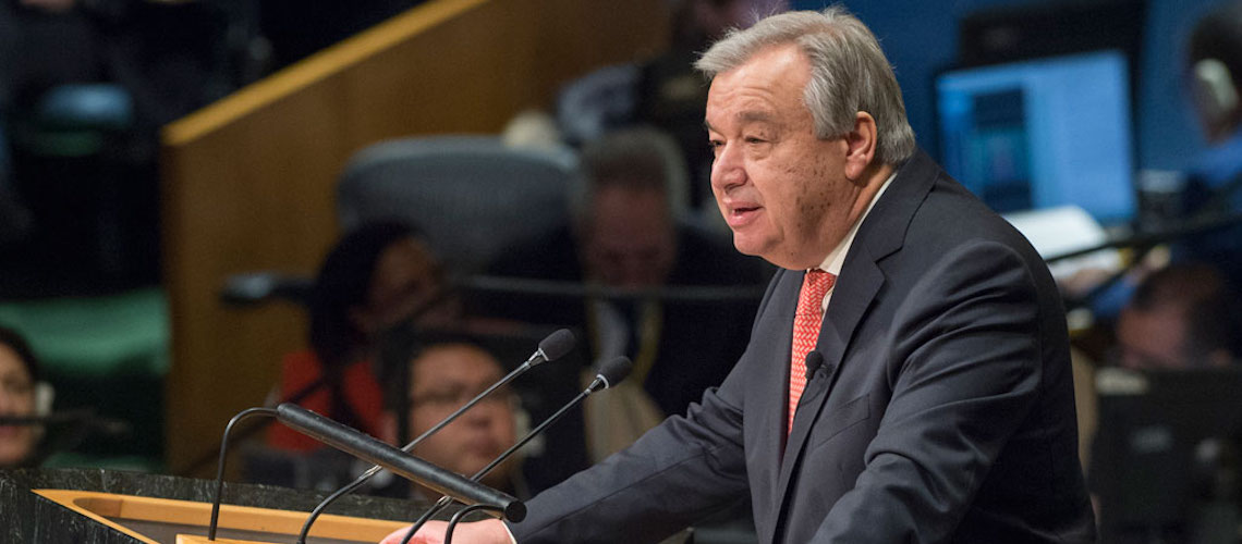 Watch: New UN Secretary-General gives speech on Holocaust and Anti-Semitism