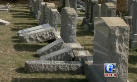 Another Jewish Cemetery vandalised, over 100 headstones knocked over, damage in Philadelphia