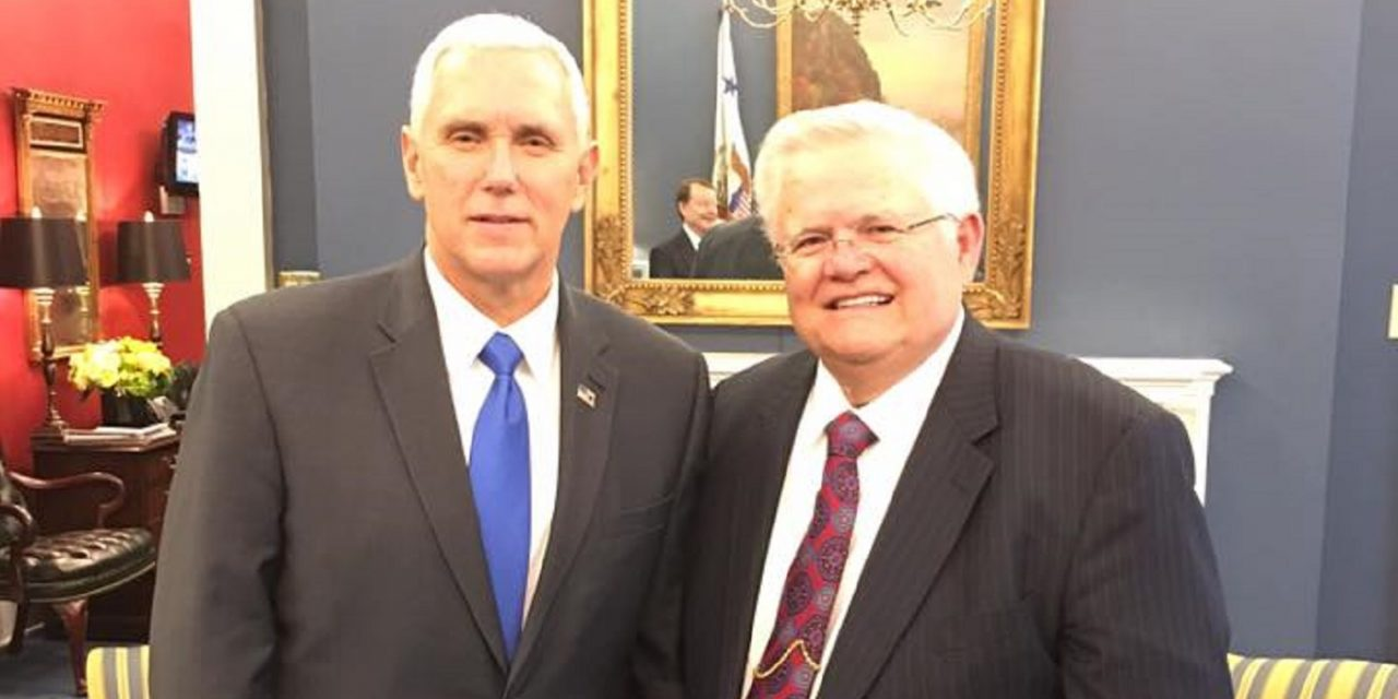 CUFI Founder, Pastor Hagee, meets with President Trump and Vice-President Pence