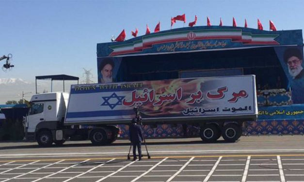 """Iran displays new weaponry in military parade along with """"Death to Israel"""" banners"""