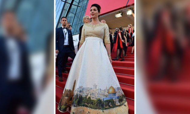 Israeli minister wows Cannes festival with 'Jerusalem skyline' dress
