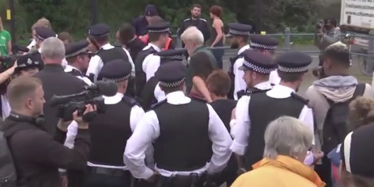 Anti-Israel protesters arrested at London arms exhibition demo