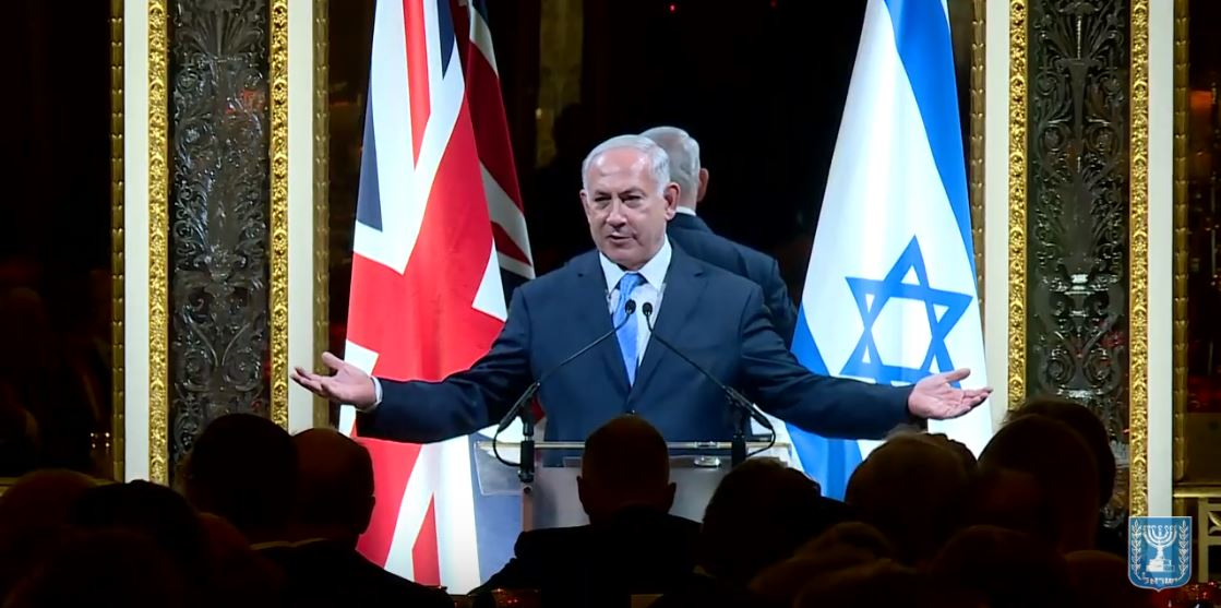 "WATCH: ""The history of modern Zionism is intertwined with the history of Britain"" – PM Netanyahu"