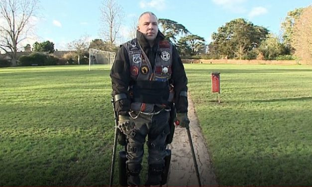British war veteran walks again with Israeli bionic suit