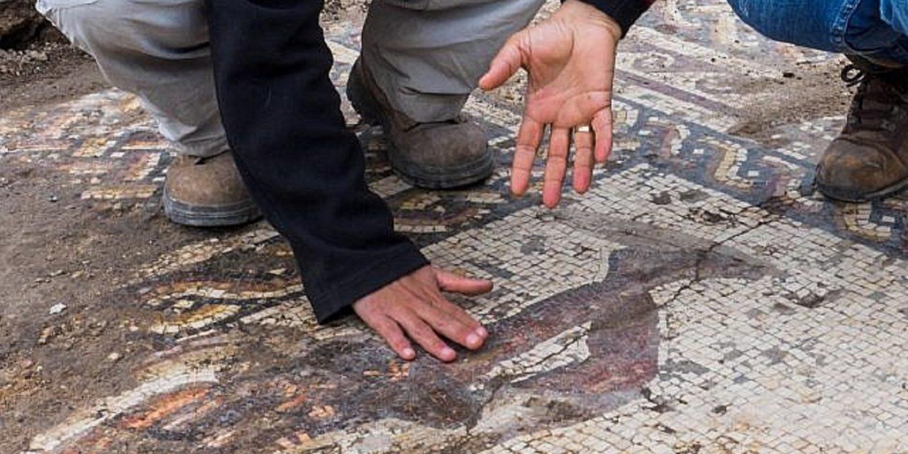 Incredible Byzantine-era mosaic discovered at Caesarea