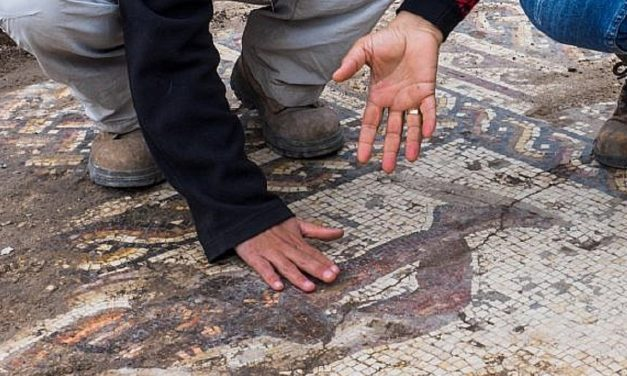 Incredible Byzantine-era mosaic discovered at Caesarea