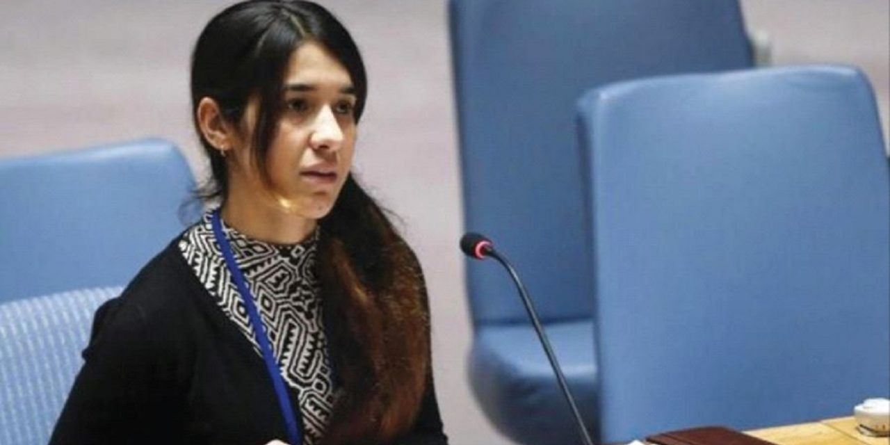"Nobel Peace Prize winner, Nadia Murad: ""Israel a beacon of hope for Yazidis"""