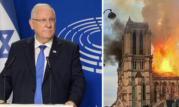 Israel's President Rivlin expresses solidarity with France following Notre Dame fire