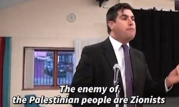 "Labour shadow minister filmed saying ""Zionism is the enemy of peace"""