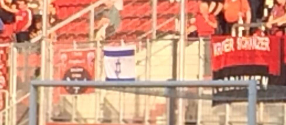 "Germany: ""No Jewish flags"" – security remove Israeli flag at football match"