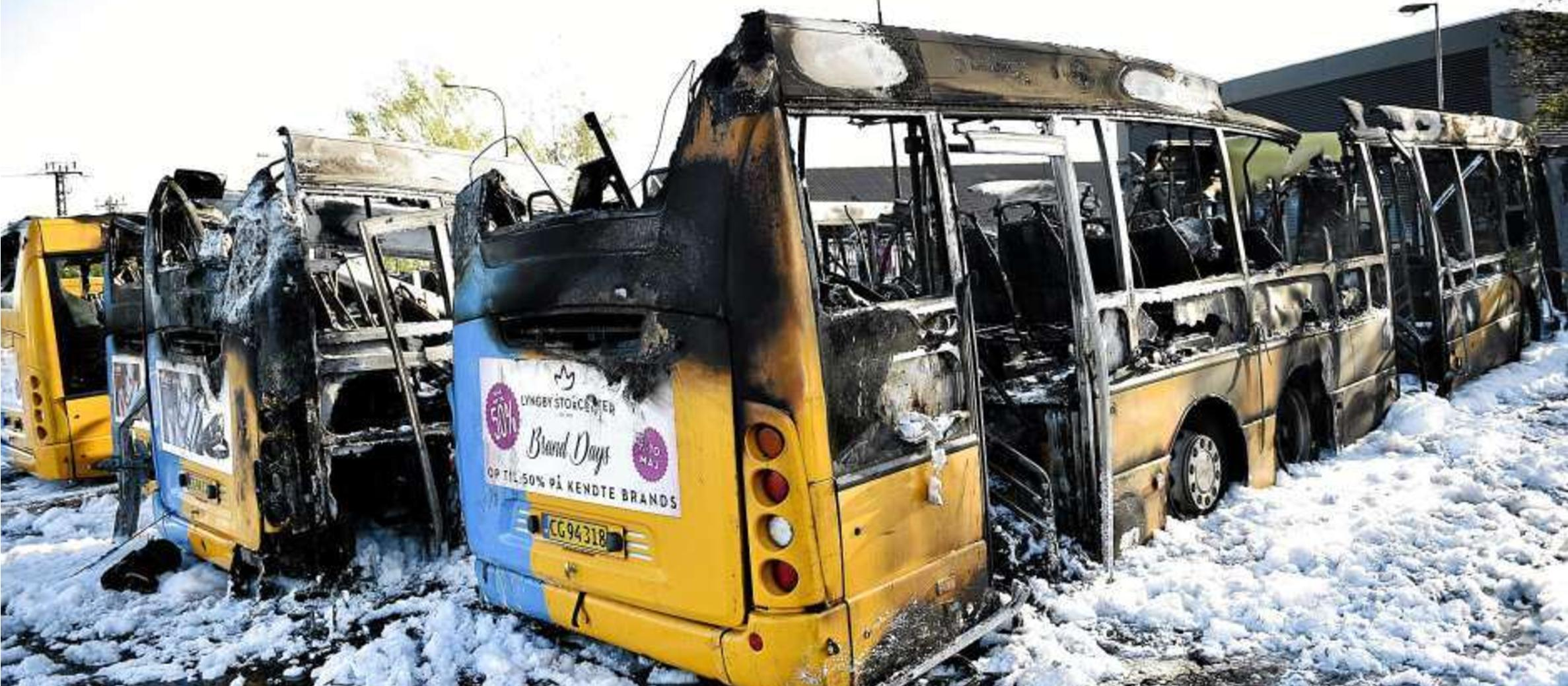 Denmark: Four city buses burned in suspected anti-Israel attack