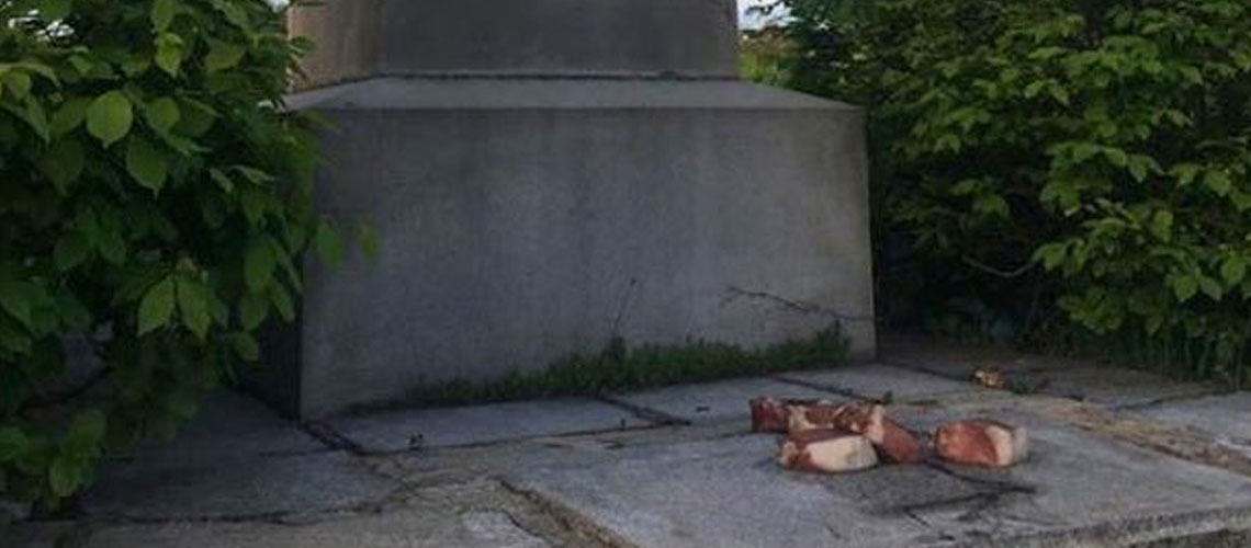 US: Holocaust memorial desecrated with pork in Massachusets