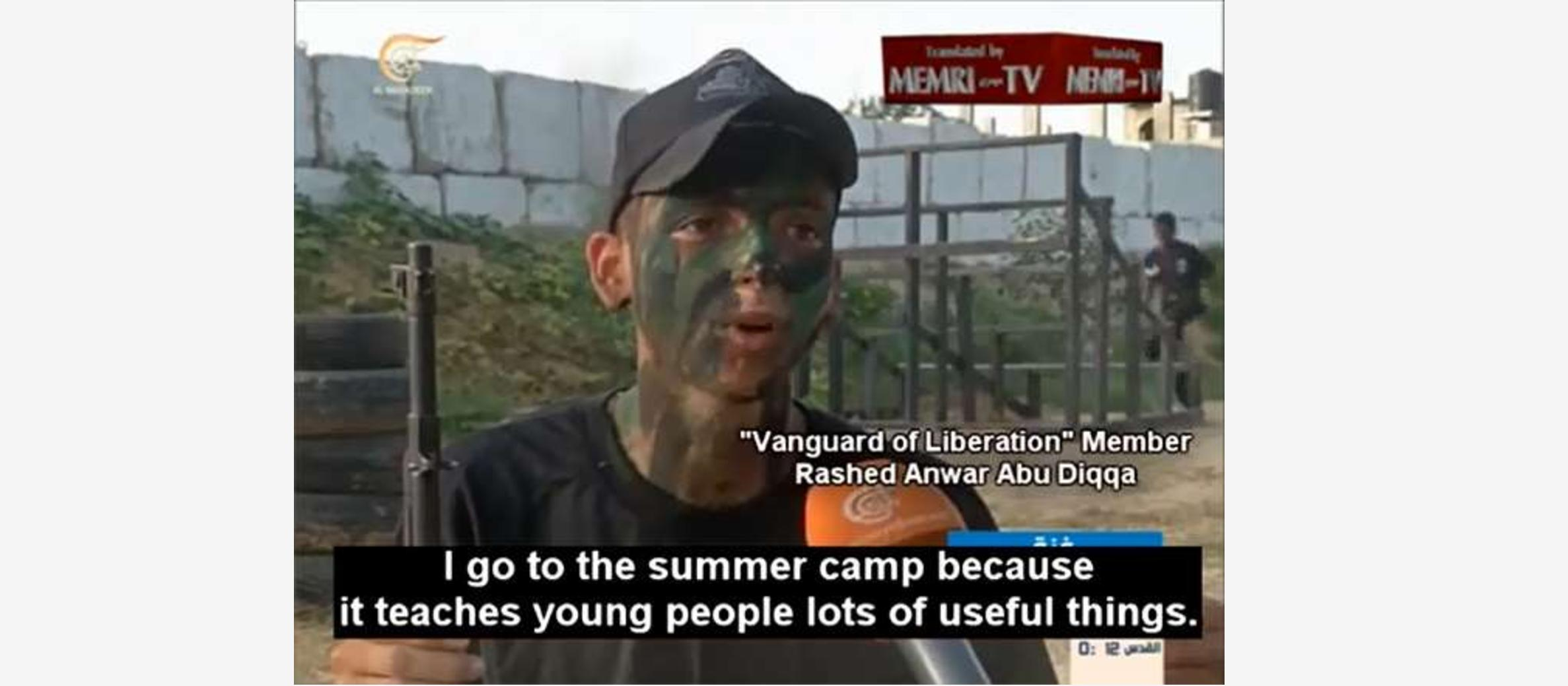 Hamas training camp attracts 25,000 youth as young as 15