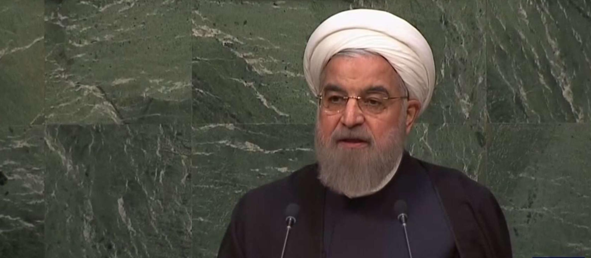 "Iranian President calls Israel the ""only impediment"" to a nuclear-free Mideast at UN General Assembly"