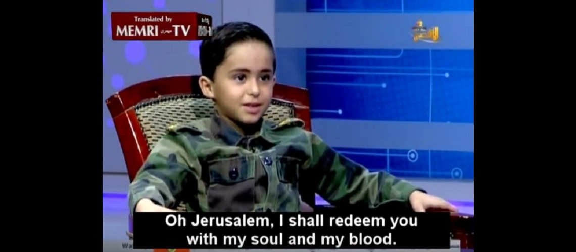 "VIDEO: Gaza children want to ""blow up the Jews"" when they grow up."