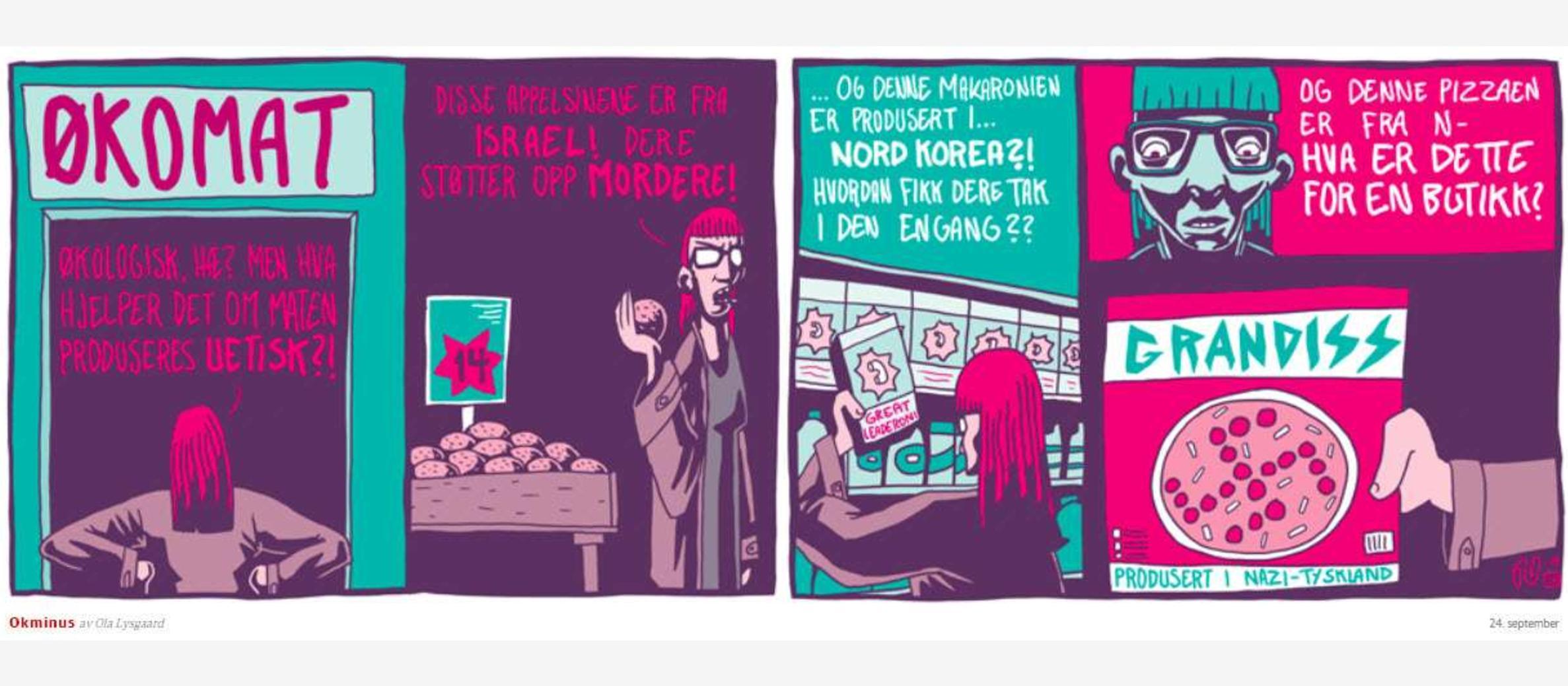 Norway: Newspaper comic strip likens Israel to Nazis and North Korea