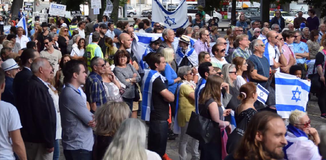 Hundreds attend pro-Israel demonstration in Sweden