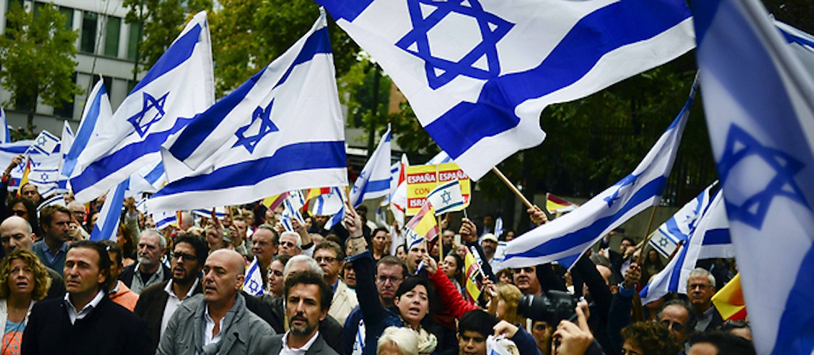 THOUSANDS rally in support for Israel in New York, Paris, Madrid and Rome