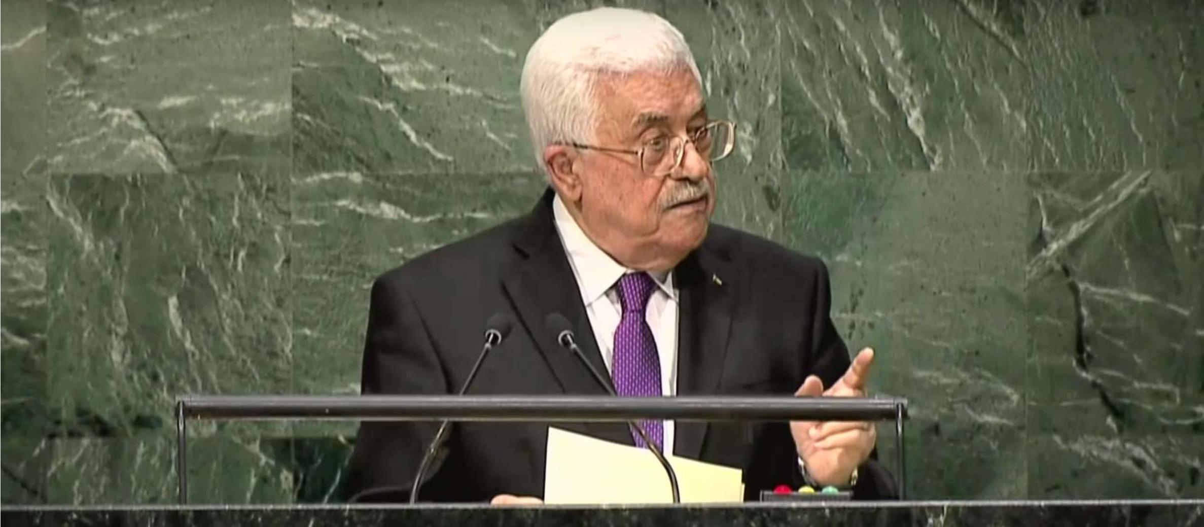 "Abbas appeals for end in violence after last month welcoming ""every drop of blood"""
