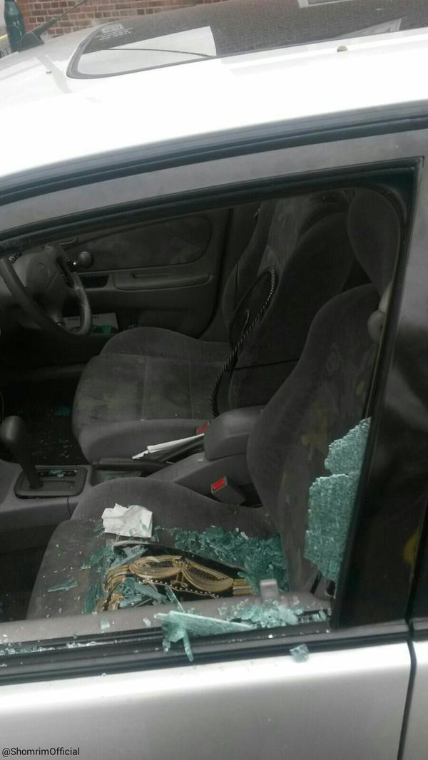 "Suspect shouted ""We need to kill all Jews"" as they smashed a car window outside the synagogue. (Photo: Shomrim NE London)"