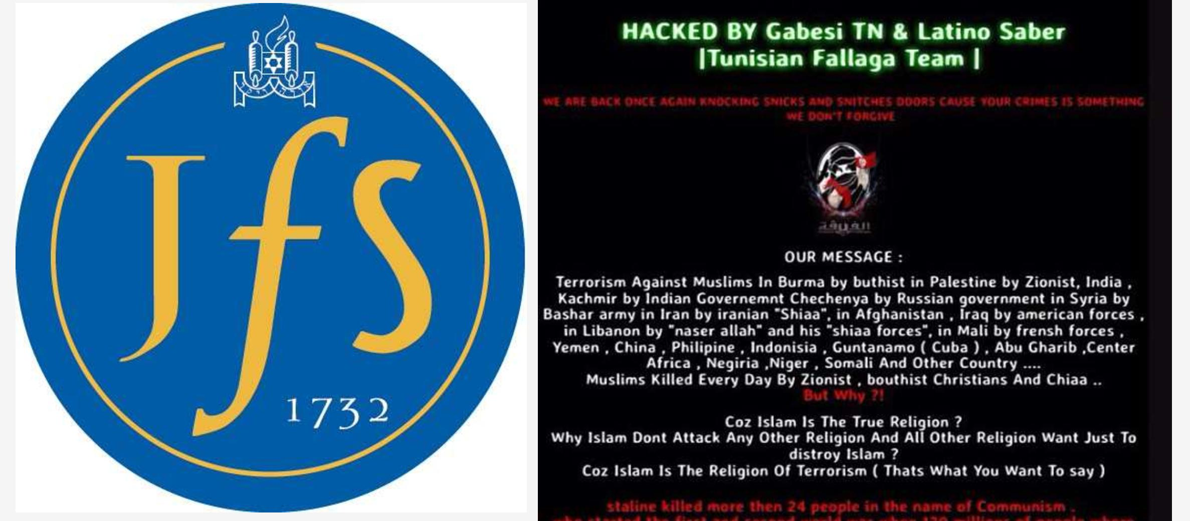 Britain's largest Jewish school hacked by Tunisian Islamists