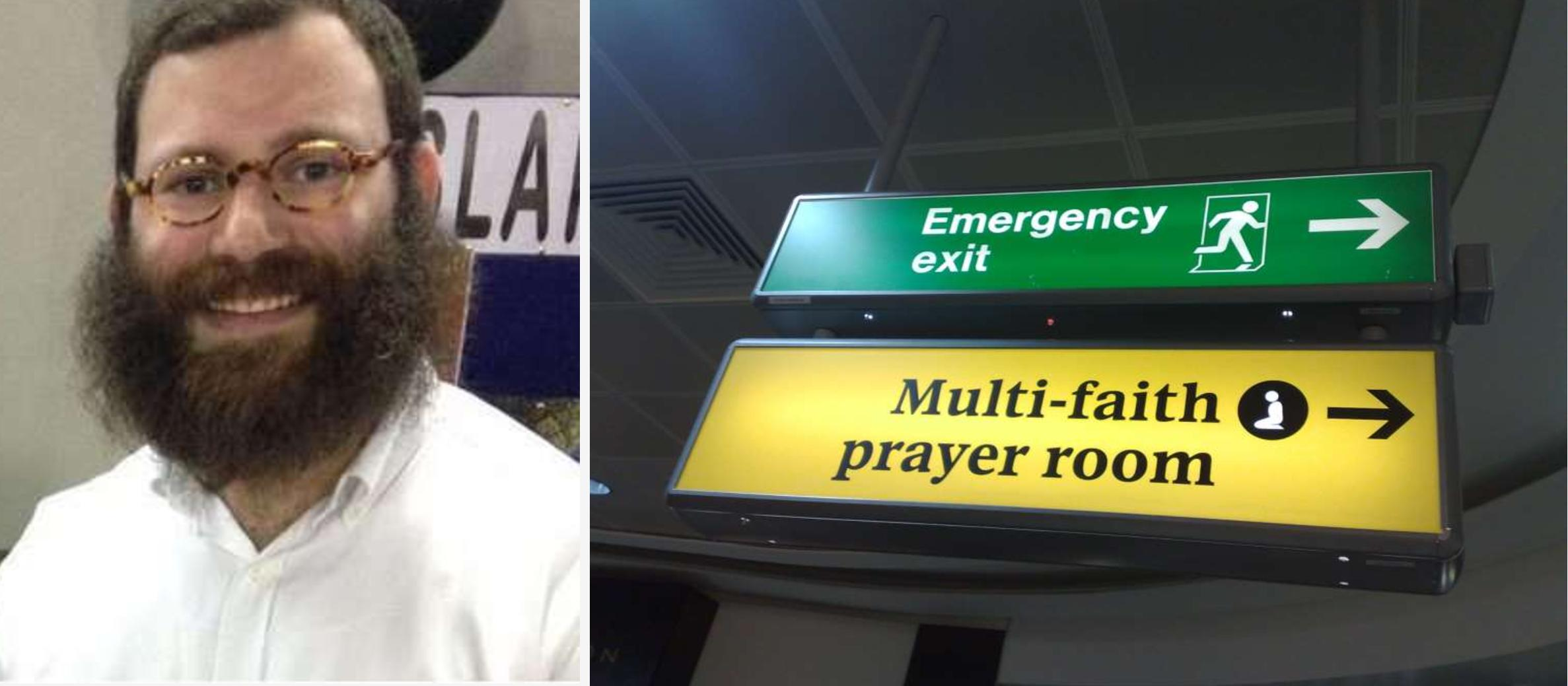 Heathrow apologises to rabbi told to take shoes off in prayer room