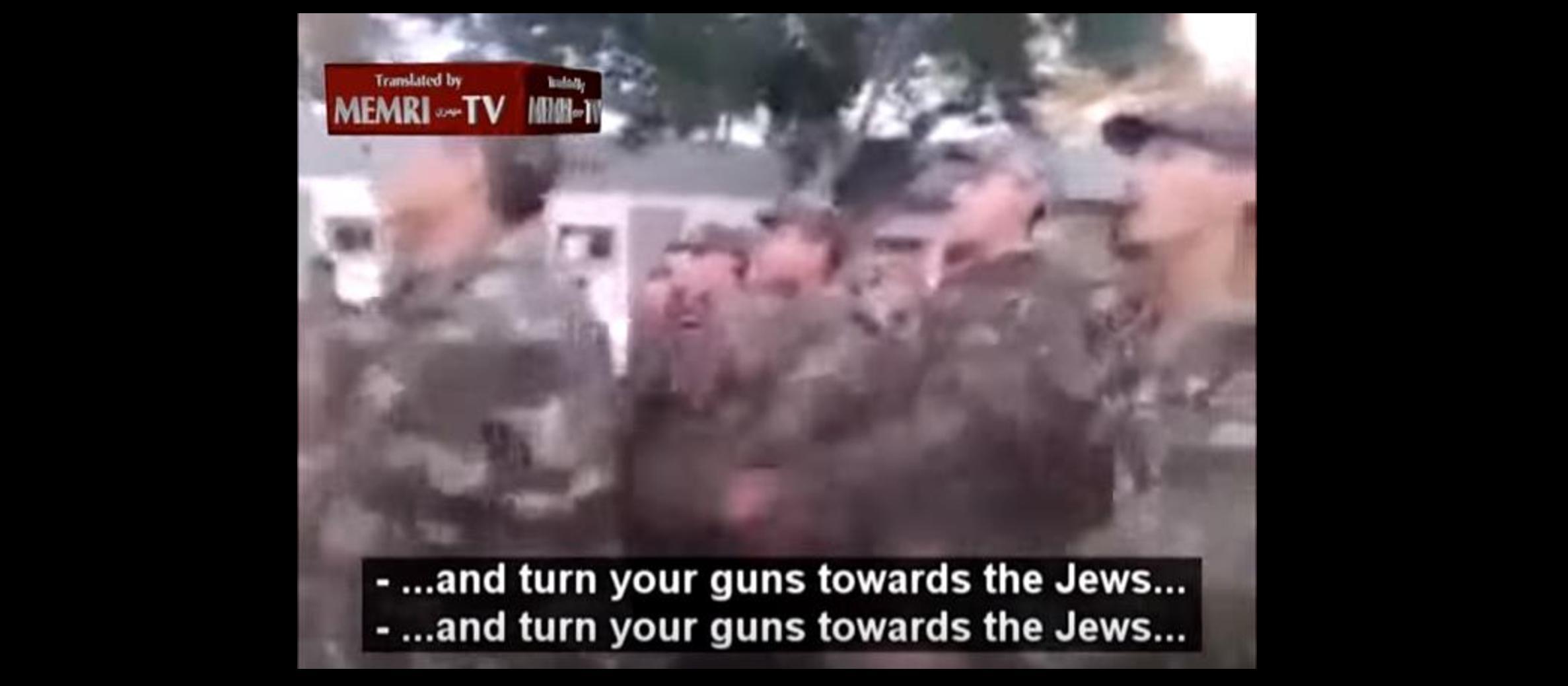 WATCH: Algerian troops march singing 'kill the Jews'