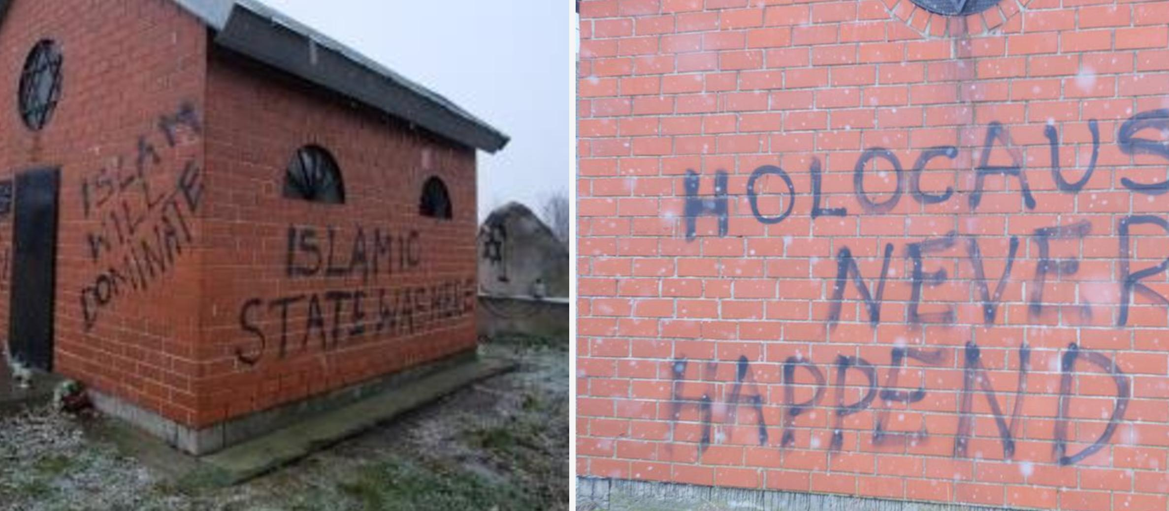 Jewish cemetery in Poland desecrated with anti-Semitic and pro-ISIS graffiti
