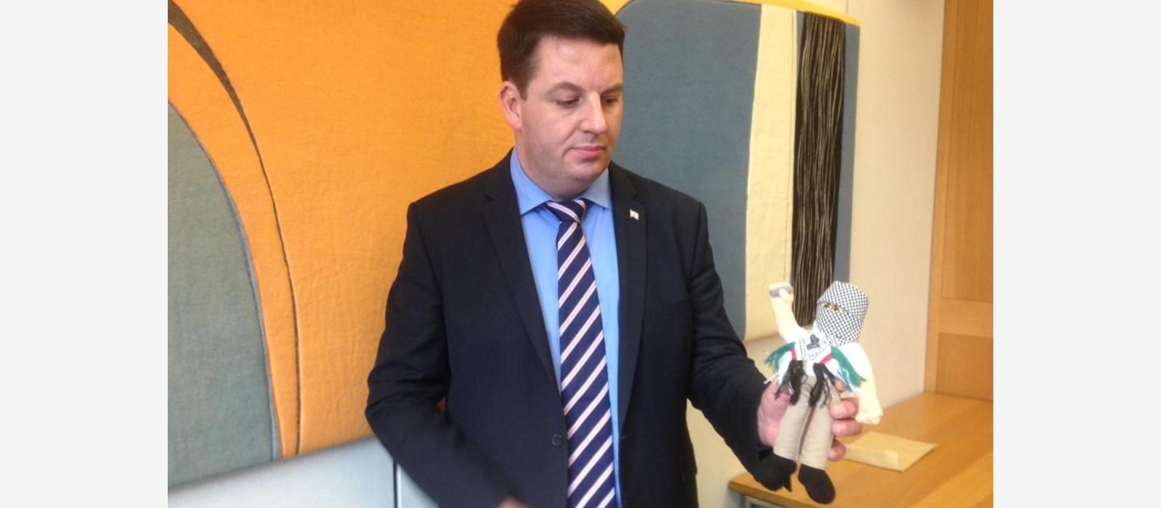 MP brandishes Palestinian 'terror doll' in UK Parliament debate