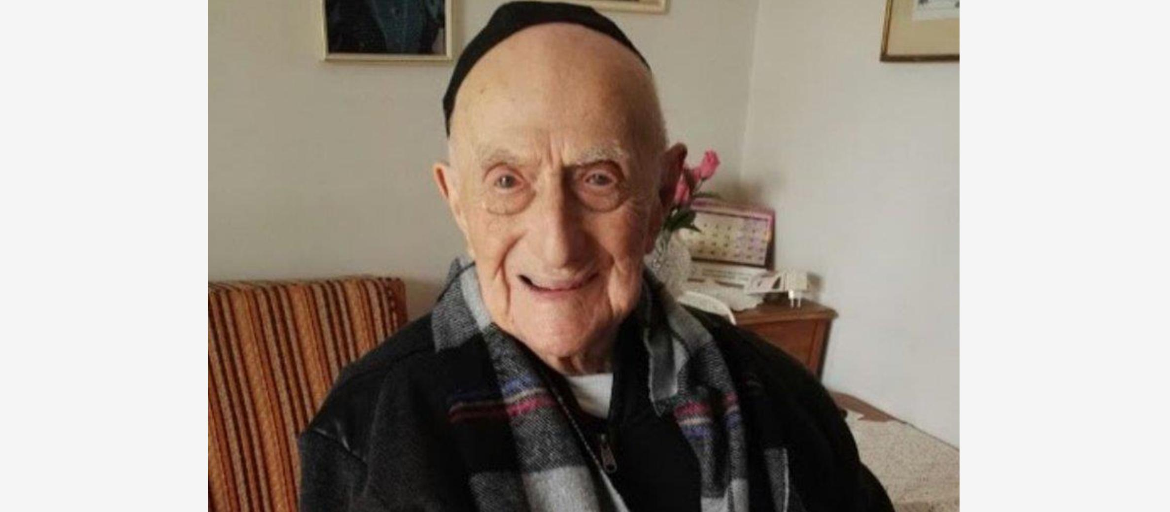 'Saved by God': Jew who survived Holocaust becomes world's oldest man at 112