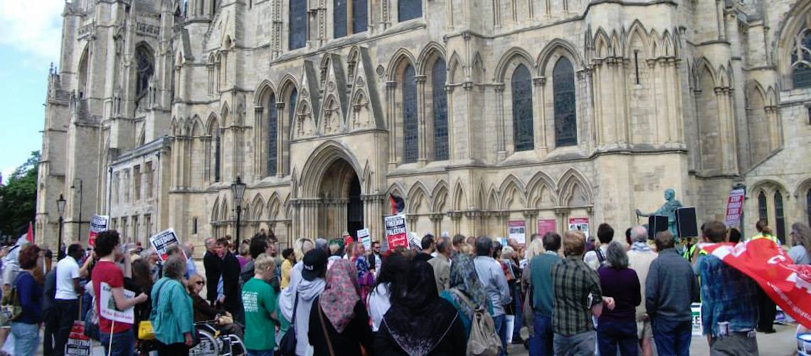 Pro-Palestinian student group acts out 'anti-Semitic' play in York