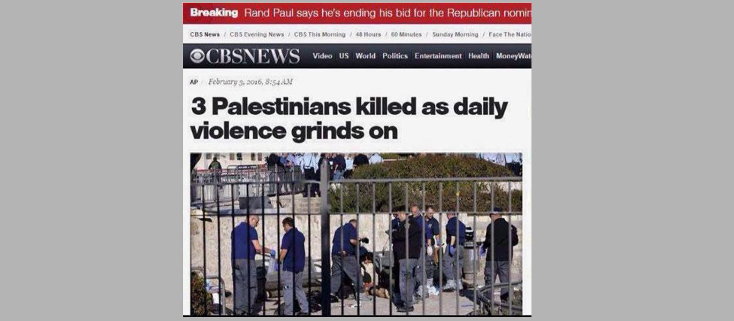 Shocking news headlines distorting Jerusalem terror attack