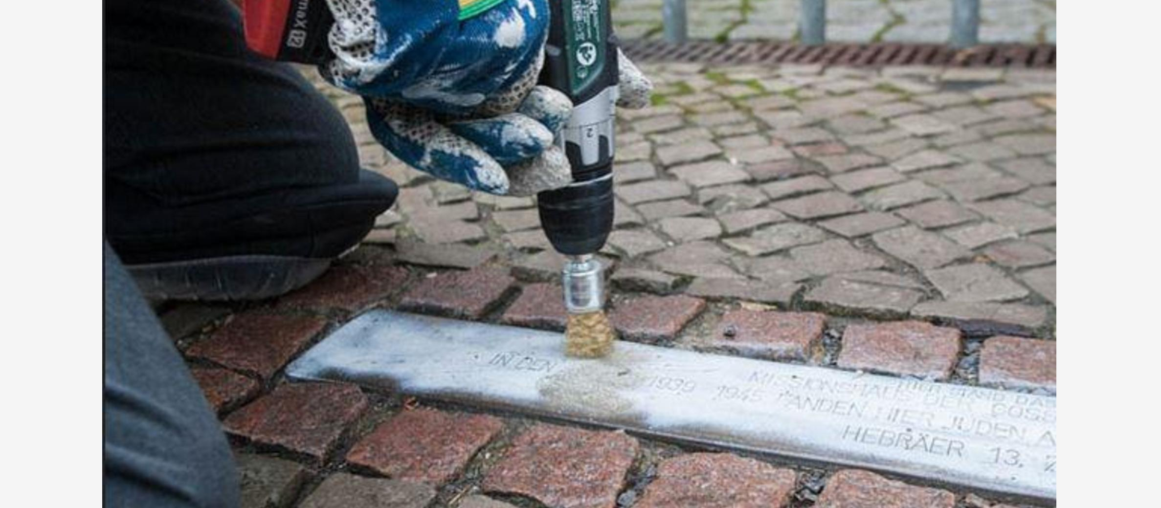 Holocaust memorial cobbles vandalised in Germany