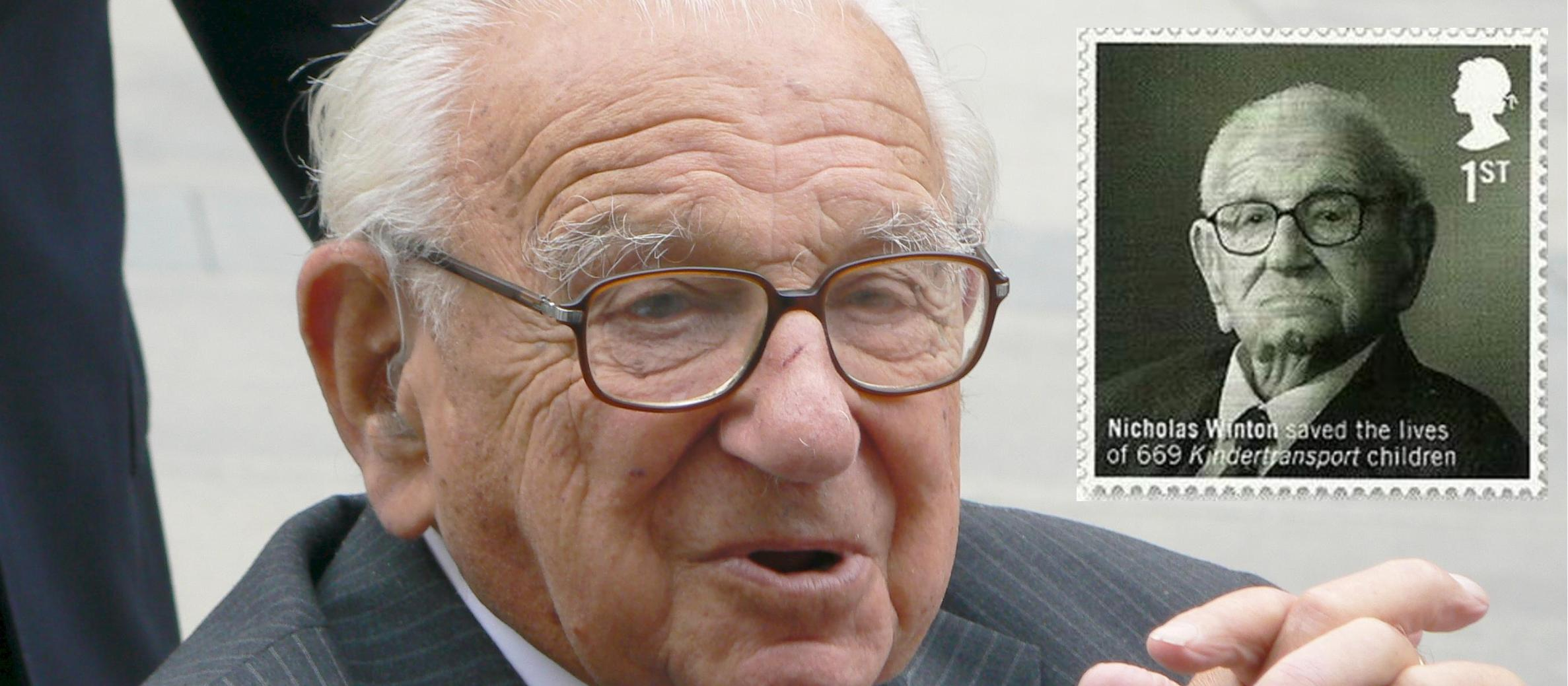 "Royal Mail stamp for Britain's ""Schindler"", Sir Nicholas Winton, set for launch in March"