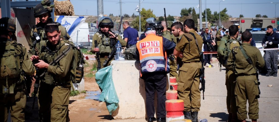 Israeli killed by friendly fire during stabbing attack; bomb attack prevented in Jerusalem