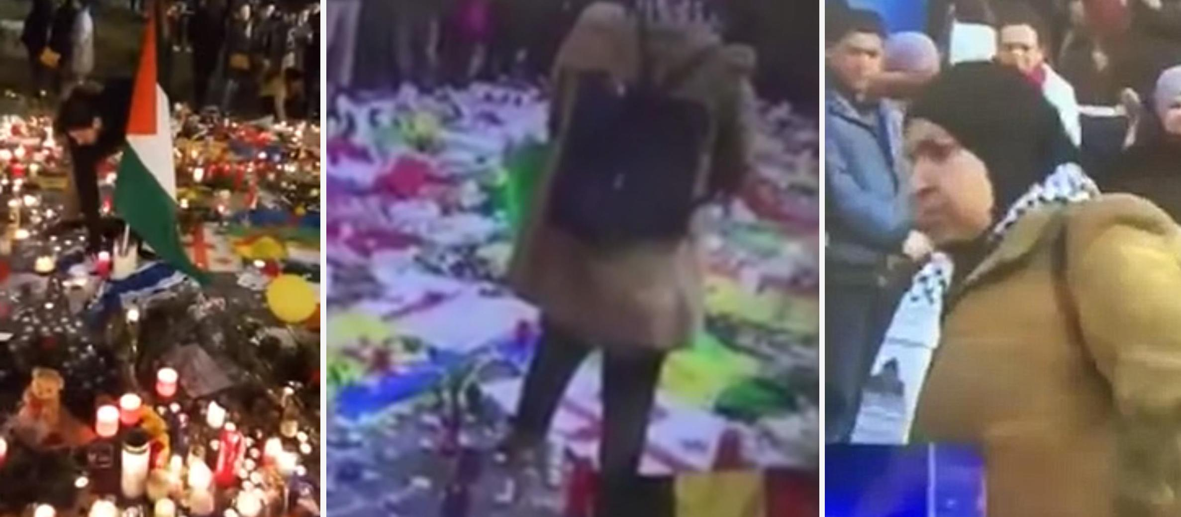Videos emerge of Israeli flag desecration at Brussels memorial for terrorist victims