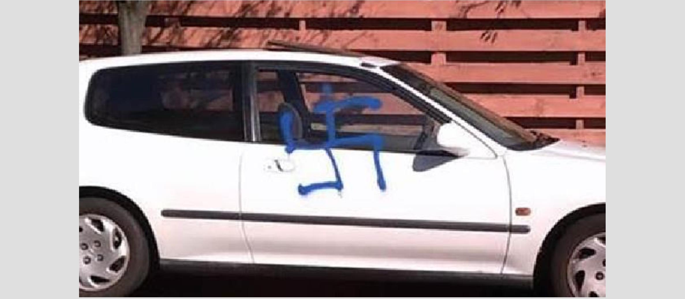 Swastika pairing on Jewish family's car in Melbourne