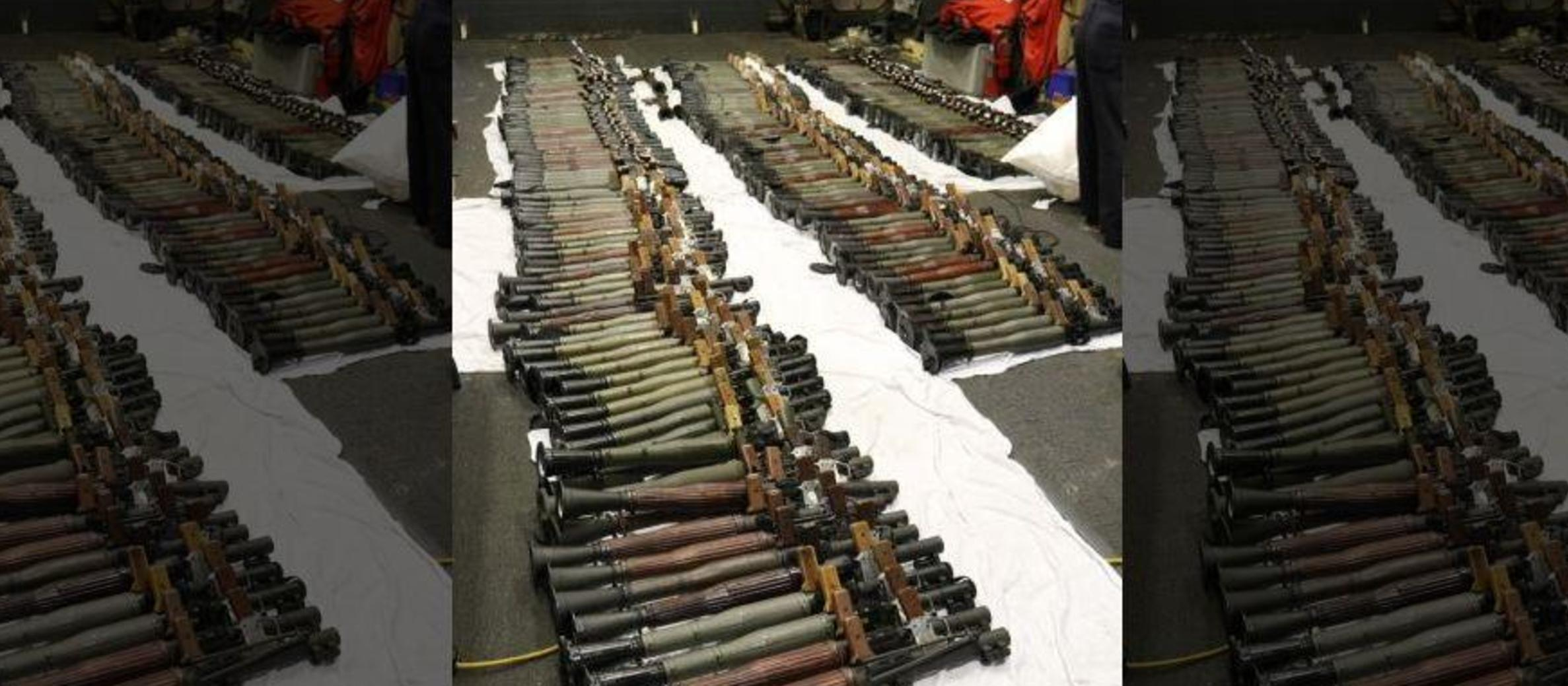 US seizes thousands of Iranian weapons, including grenade launchers, in Arabian Sea