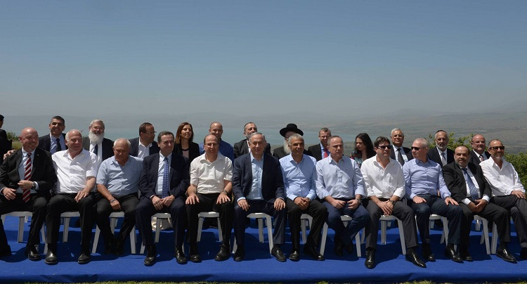 Knesset Members at the Golan Heights