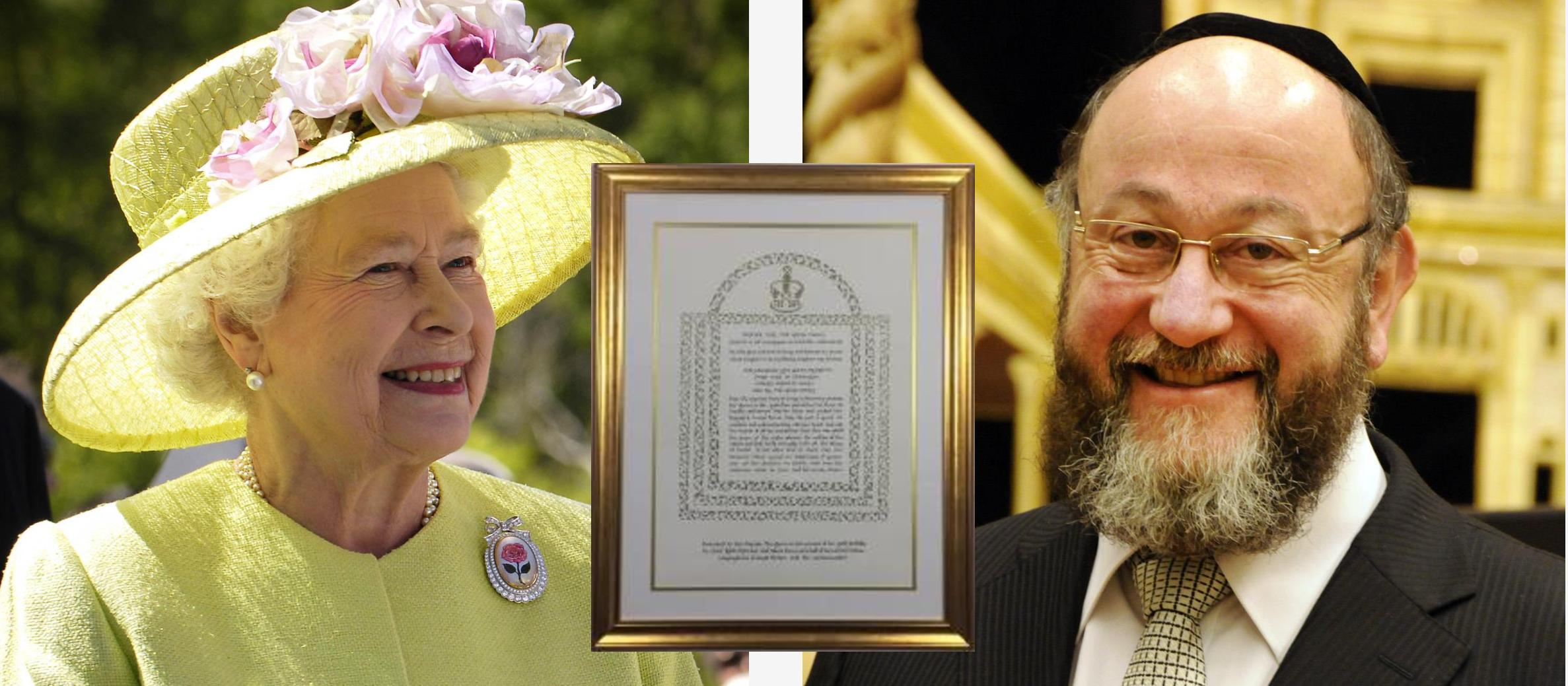 'Prayer for the Royal Family' – Chief Rabbi presents Queen with special 90th birthday gift