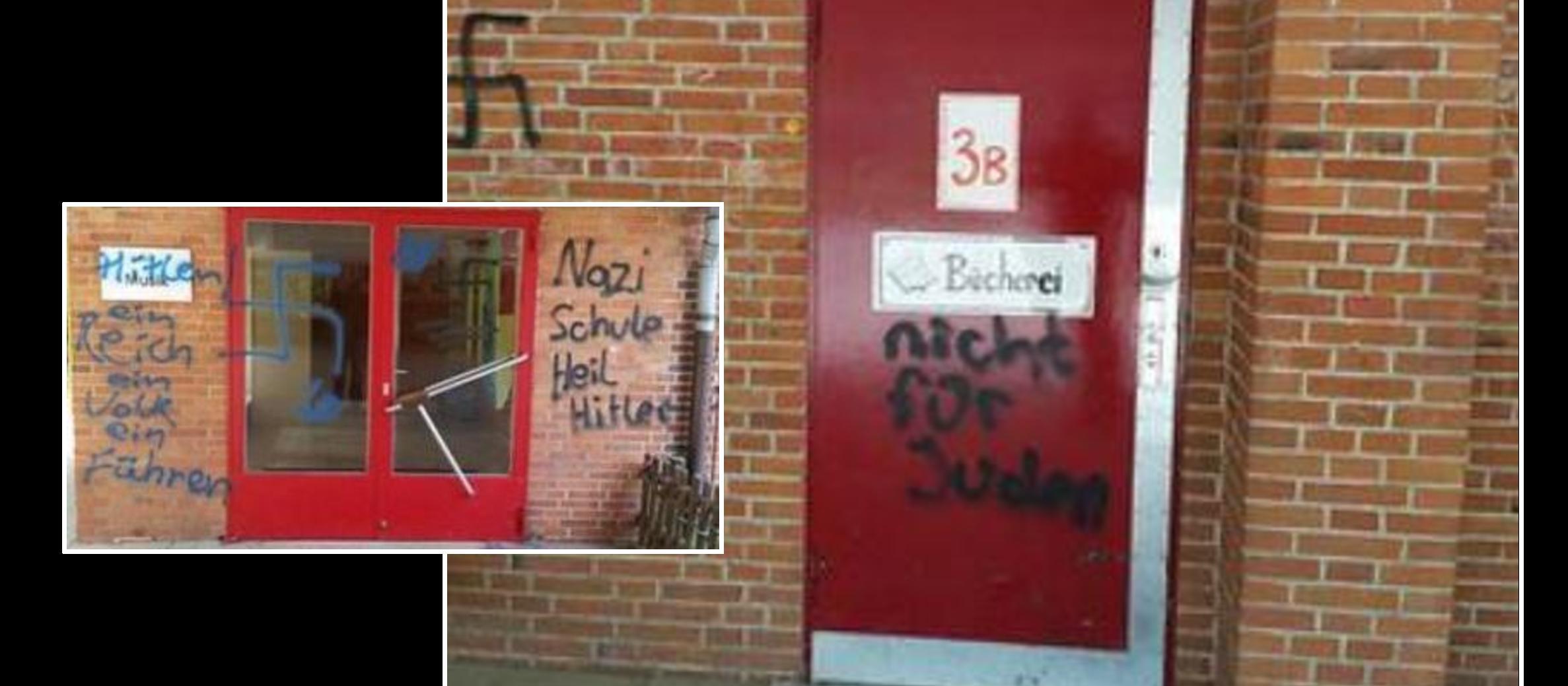 """""""Not for Jews"""" daubed on door of German school"""