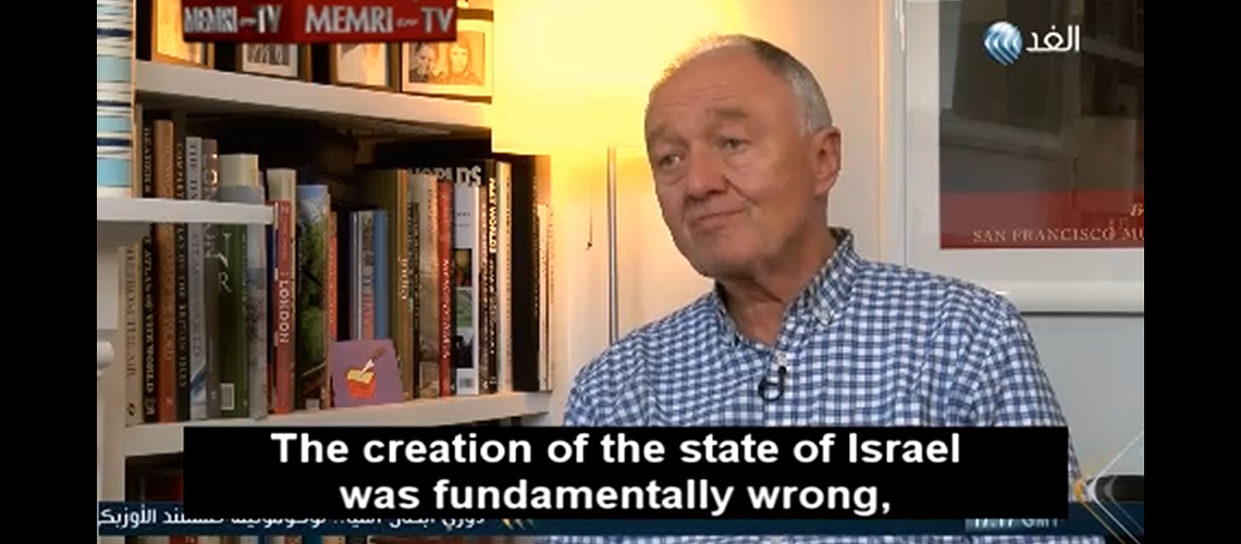 "Ken Livingstone: ""The creation of the State of Israel was fundamentally wrong"""