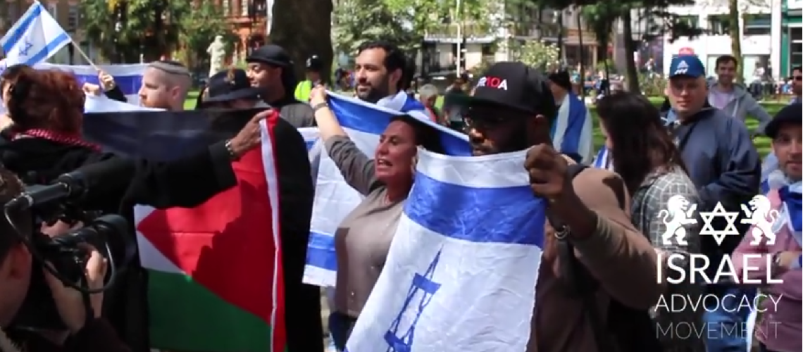 Watch: Israel supporters shut down BDS flash mob in London