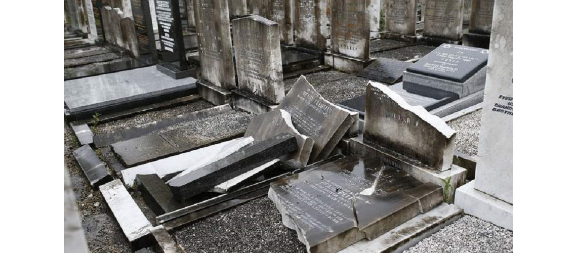 Manchester Jewish cemetery has graves smashed and desecrated