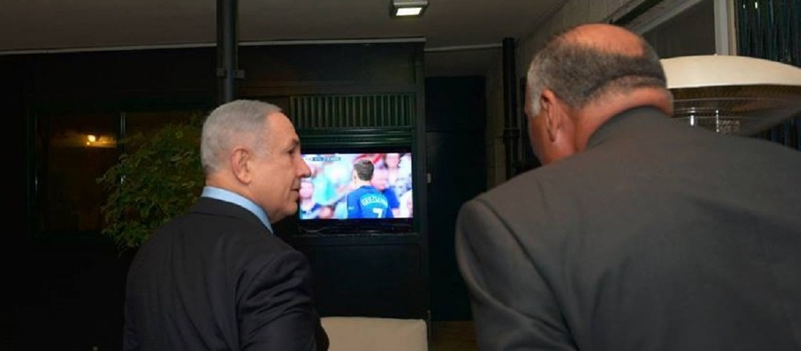 Netanyahu and Egyptian FM watch Euro football final