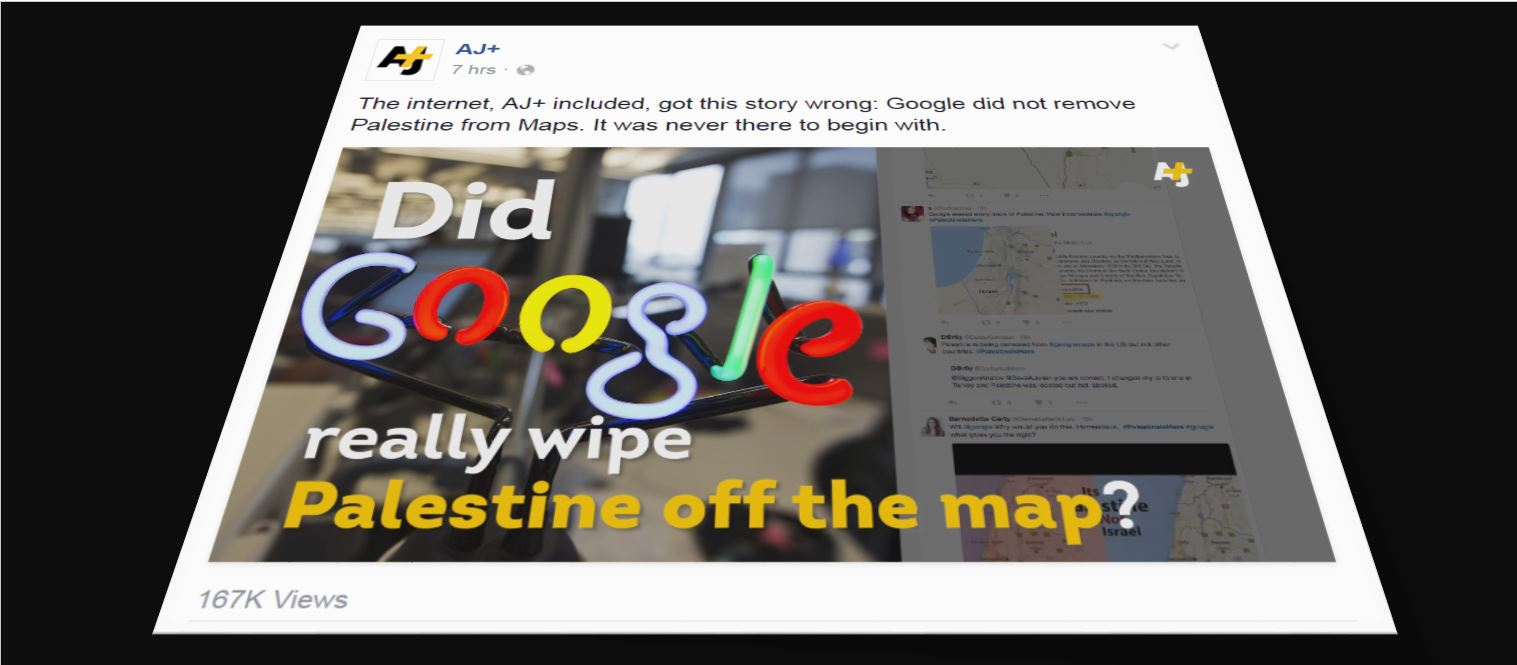 "Anti-Israel media giant accidentally says ""Palestine"" was ""never there to begin with"""