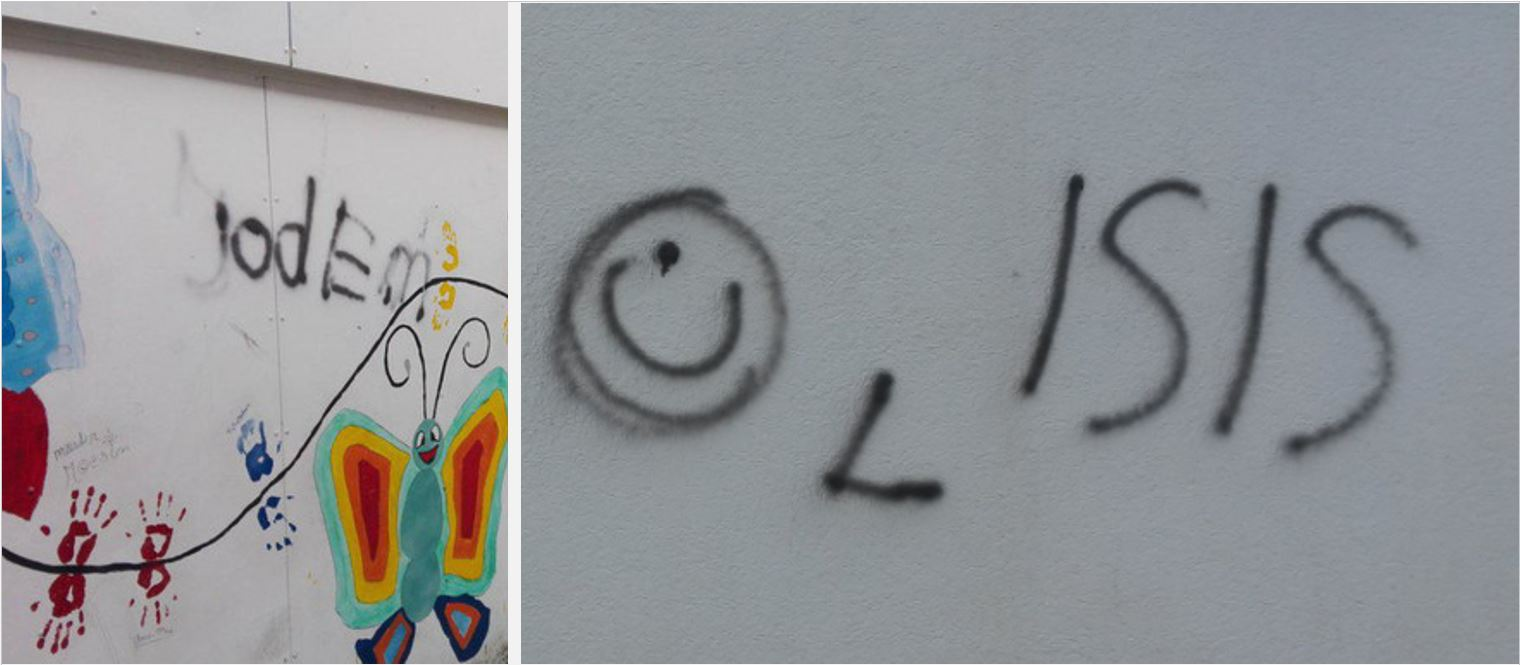 Jews and Christians targeted in pro-ISIS graffiti outside Dutch school