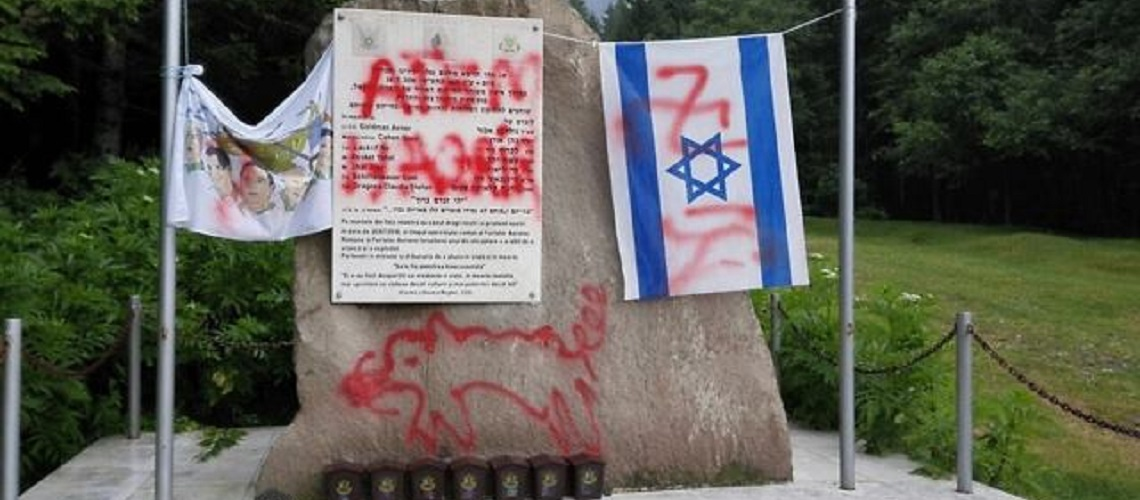 Romanian monument to Israeli crash victims vandalised