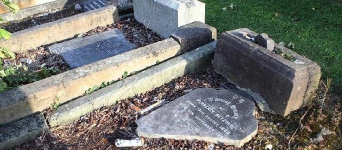 17 Jewish graves destroyed at Belfast cemetery